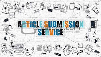 Article Submission Service in Multicolor. Doodle Design.