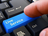 Live Service - Clicking Blue Keyboard Button.