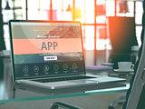 App Concept on Laptop Screen.