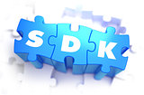 SDK - Text on Blue Puzzles.