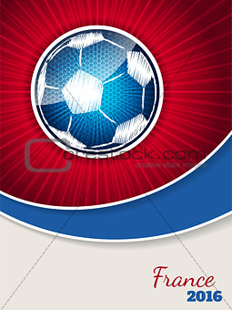Abstract blue red soccer brochure template
