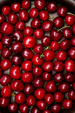 Top view of red cherry texture