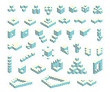 Isometric cubes set