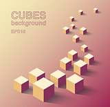 Isometric cubes background