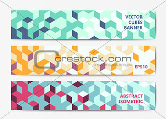 Abstract geometric banner templates