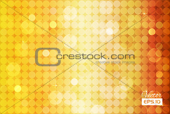 Abstract golden background with circles