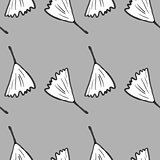 Ginkgo biloba pattern seamless.  Silhouette of ginko leaves