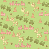 Seamless pattern of children's toys.