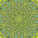 green spring geometric seamless tribal  pattern