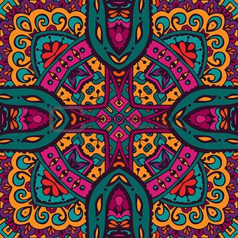 Abstract Tribal ethnic seamless pattern intricate