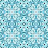 damask blue seamless tiled pattern