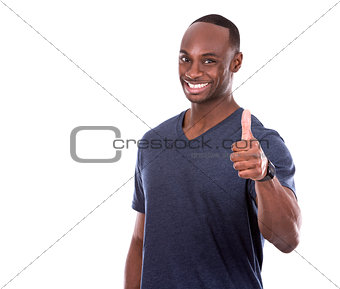thumbs up from handsome black man