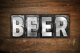 Beer Concept Metal Letterpress Type