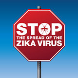 Zika Virus Stop Sign Warning Illustration