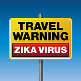 Zika Virus Travel Warning Illustration