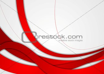 Abstract red and grey wavy corporate background
