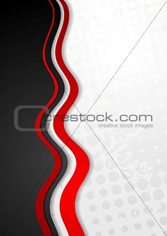 Abstract corporate grunge wavy background