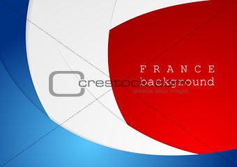 Corporate wavy bright abstract background. French colors