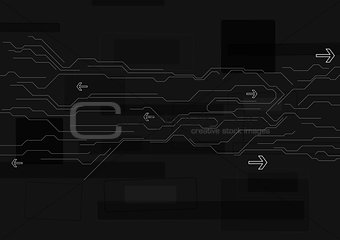Abstract black technology background
