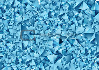 Abstract blue polygonal vector texture
