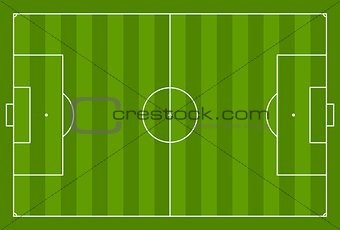 Green vector soccer field background