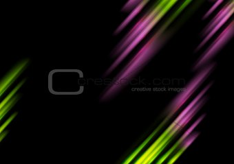 Abstract bright tech stripes vector background