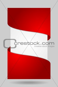 Abstract vector corporate flyer design