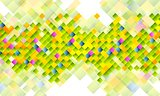 Abstract tech background with colorful squares