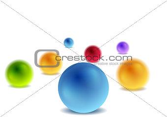 Bright 3d balls on white for infographic design