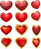 beautiful set of hearts