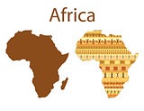 Map of Africa vector illustration