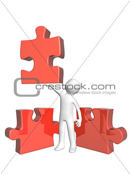 3d man with puzzles