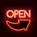 Neon word entry Open with arrow
