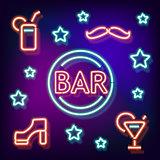 Neon symbol bar