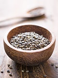 rustic french green puy lentil