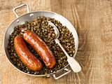 rustic sausage with lentil