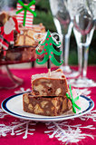 Christmas Chocolate Fudge Slices
