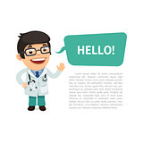 Doctor Saying Hello Poster