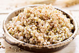 cooked buckwheat seeds