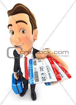 3d businessman traveling for business