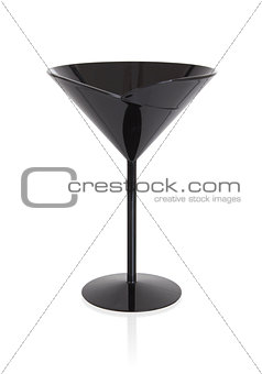 Black cocktail glass