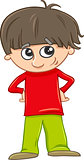 funny boy cartoon illustration