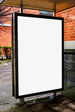 Blank bus stop advertising billboard