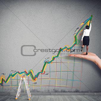 Business arrow upwards