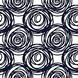 Hand drawn seamless indigo scribble swirl texture