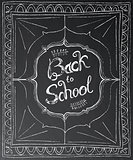 Back to school chalk lettering on black background.