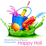 Splashy Holi Background