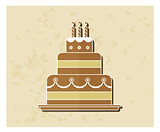birthday cake flat icon