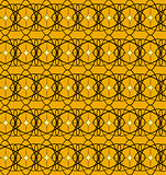 Black lace pattern with yellow squares