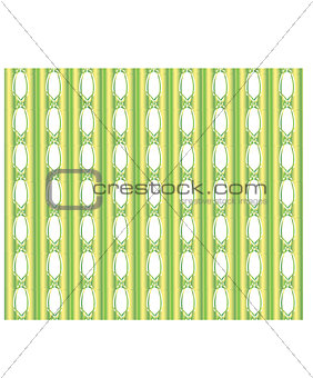 Green-yellow background with vertical stripes